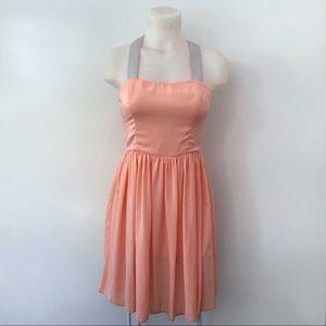 ASOS Dress Size 4 Cross Back High Waist Swing